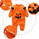 Baby Kids Pumpkin Monster Clothes Outfit Romper Jumpsuit Halloween Bodysuit US