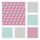 SWEETEST SWANS 100% FINE COTTON FABRIC dressmaking quilting crafts SWAN