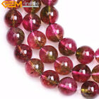 """Round Rainbow Crackle Lab Tourmaline Loose Spacer Beads For Jewelry Making 15"""""""