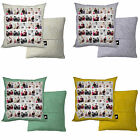 PERSONALISED PHOTO COLLAGE GIFT CUSHION PHOTOMONTAGE FLORAL SWIRL DESIGN