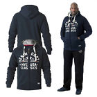 Duke D555 Big Tall King Size Mens Upton Hoody Denim Full Zip Hooded Sweatshirt