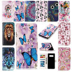 For Samsung Galaxy Note 8-Relief Sculpture Pattern Card Slots Stand Wallet Case