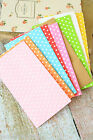 Small Paper Bags Plain & Polka Dots flat bottom party favour giveaway sweets bag