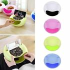 Creative New Lazy Fruit Plate Plastic Double Layer Candy Peel Seeds Dish Storage