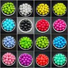 6 /8 /10 /12 Mm Acrylic Round Pearl Spacer Loose Beads Jewelry Making