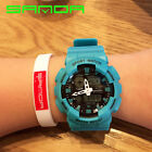Men's Sports Quartz Analog Alarm Led Digital Watch Waterproof Army Wristwatch