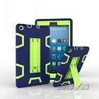 For Amazon Fire 7/HD 8 (2017) rubber+hard pc shockproof tablet case kickstand