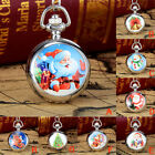 Christmas Vintage Style Pocket Chain Necklace Watch Christmas Gifts Pocket Watch