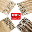 clearance any color clip in 100 remy human hair extensions full head highlight