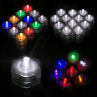 12/24/36 pcs LED Submersible Waterproof Wed Xmas Decor Vase Tea Light Candles