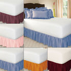 Elastic Bed Skirt Solid Color Hollow Ruffle Bed Cover Twin Full Queen King Size image