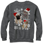 Lost Gods Ugly Christmas Sweater Cat Dog Snowflake Womens Graphic Sweatshirt