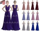 Long Chiffon Lace Evening Formal Party Ball Gown Prom Bridesmaid Dress