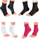 Ankle Sock Compression Support Heel Sleeve Open Toe PLANTAR FASCIITIS Foot Pain