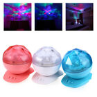 Colorful LED Night Light Projector Lamp Projection Light w/Speaker Bedroom Decor