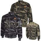 Mens Soulstar Hodge Army Camouflage Bomber Quilted Jacket Mens Size
