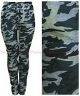 Girls Leggings Camouflage Army Print Thick Warm Good Quality Cotton Ages 4-14 Yr