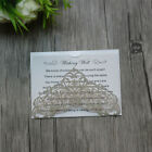 50-Personalised lace Wishing well cards,RSVP cards,Wedding invitation cards