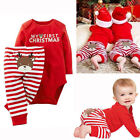 "Toddler Baby Boy Girl""My First""Christmas Jumpsuit Romper Bodysuit+Pants Outfits"