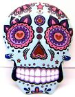 Skull Fridge Magnet Day of the Dead Sugar Candy Floral Pink White or Blue 8cm