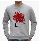FELPA UOMO SWEET TREE LOVE HEART BIO VEGAN FASHION SWEETIES VINTAGE NE0141A PACD