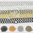 Fashion Ring Necklace Curb Chain 20Inch Connector 3/4.5mm 5 Colours