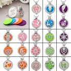 Aromatherapy Diffuser Locket Necklace Cage Stainless Steel Random 5pcs Oil Pads