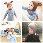 UK Baby Toddler Winter Beanie Warm Hat Hooded Scarf Boys Girls Woolen Hats Caps