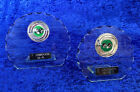 Set of 2 Lawn Bowls Glass Trophy Awards Tournament FREE Engraving