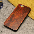 Real Wood Wooden Hard Slim Shockproof Protective Case  For iPhone 5S 6 6S 7 Plus