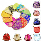 Bags Ethnic Style Drawstring Silk 1 Pcs Drawstring Pouch Jewelry Embroidery