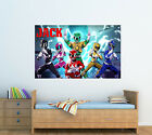 Personalised Glossy Kids Power Rangers Poster  - Wall Decoration - ADD ANY NAME