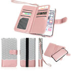 Leather Removable Wallet Magnetic Flip Card Case Cover for iPhone 8 / 8 Plus