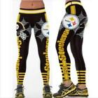 Size Wide belt legging Steelers No.12 Printed High waist legging S-3XL 537