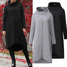 ZANZEA Women Long Shirt Dress Evening Party High Low Asym Split Sweatshirt Dress