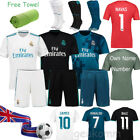 17/18 Football Soccer Short Sleeve Jersey Kits kids Boys For 3-14 Y Team Suits