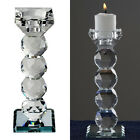 """7"""" tall Clear Glass Crystal Candle Holders Candlestick Wedding Party Decorations"""