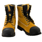 "Mens Oxgear 8"" Leather Work Boot Safety Steel Toe Rugged Heavy Duty Construction"