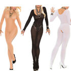 Womens 3 Colors Long Sleeve Lingerine Nightwear Body Stocking Halloween Cosplay