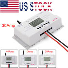 10/20/30/40A MPPT Solar Charge Controller 12V/24V Three-time Timer with USB MT