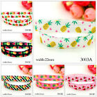"5 10 Yds Grosgrain fruit Printed Pattern Ribbon 7/8"" 22mm Craft Home Decoration"