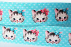1 5 10yds 7 8'' 22mm Cute Baby Cat printed grosgrain ribbon Hairbow DIY Craft