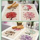 Placemats Insulation Dining Table Cotton & linen Mats Pads Diagonal Frame New
