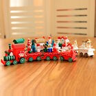 Cute Christmas Wooden Small Train Home Party Handicraft Display Christmas Decor