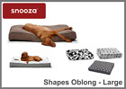 SNOOZA SHAPES OBLONG CUSHION, CAT AND DOG PET BED/CUSHION, WASHABLE BED - LARGE