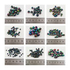 IRIDESCENT PLATED ACRYLIC BEADS *9 SIZES* *4 STYLES* BEADING JEWELLERY MAKING