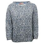 C8638 felpa donna ALTEA camouflage blu sweatshirt cotton blue woman