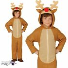 Boys Girls Childs Christmas Xmas Nativity Reindeer Fancy Dress Costume Jumpsuit
