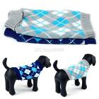 Warm Pet Dog Lattice Knitwear Sweater Small Puppy Knitted Coat Apparel XS-XL US