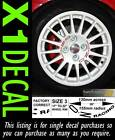 Centre Wheel Decal sticker for OZ Racing stud spacing 100-108 PCD Various Colour